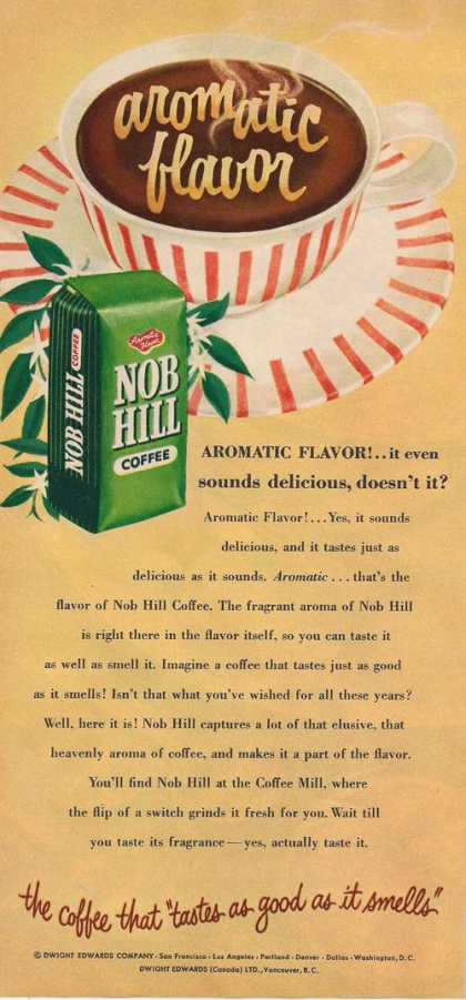 Nob Hill Aromatic Flavor Coffee (1953)