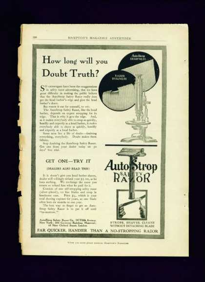 Auto Strop Safety Razor Ad C Nice Full Page (1900)