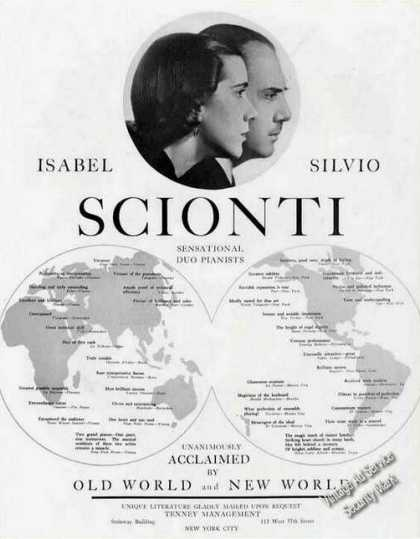 Isabel & Silvio Scionti Duo-pianists Photos (1939)