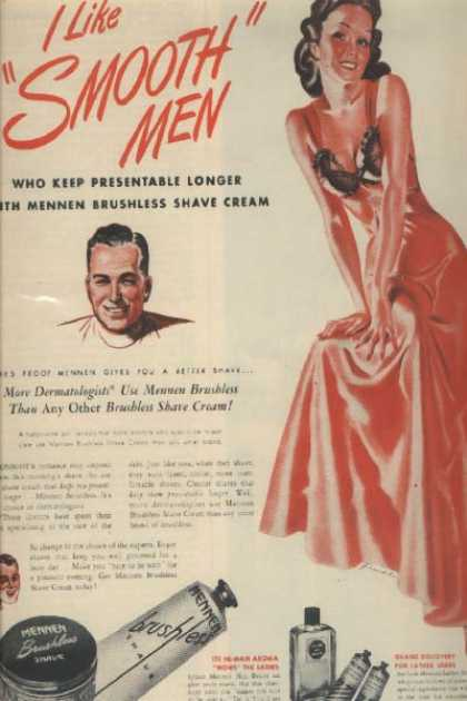 Mennen's Brushless Shave Cream (1946)
