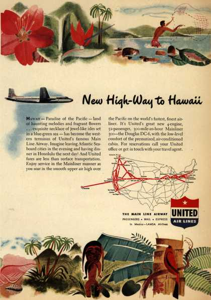 United Air Line's Hawaii – New High-Way to Hawaii (1947)