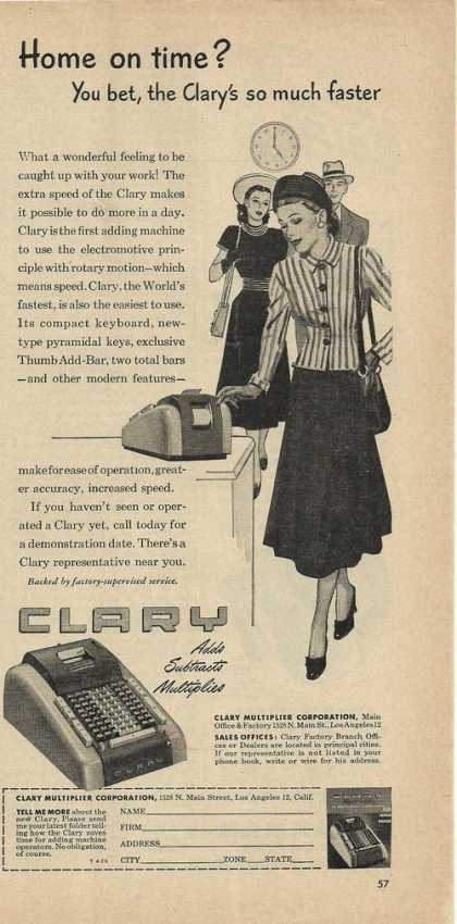 Clary Multiplier Calculator (1948)