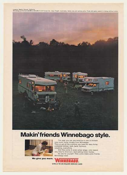 Winnebago Motor Home 4 Models Malibu Canyon CA (1973)