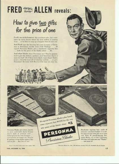 Personna Precision Razor Blades (1946)