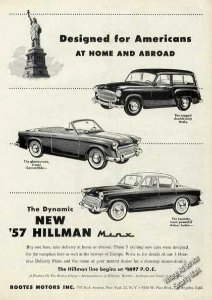 The Dynamic New Hillman Minx Cars (1956)