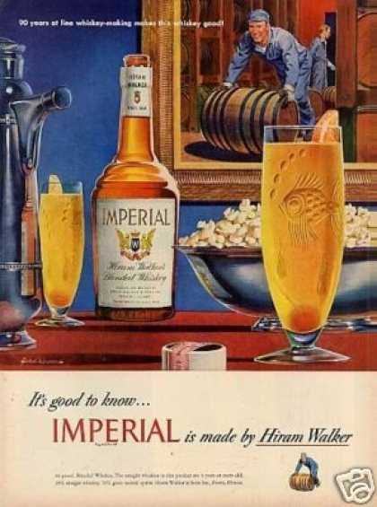 Imperial Whiskey Ad John Howard Art (1948)
