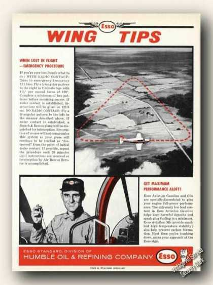 Esso Wing Tips Lost In Flight Procedures (1961)