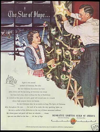Christmas Tree Lamps Lights America Guild Delga (1948)