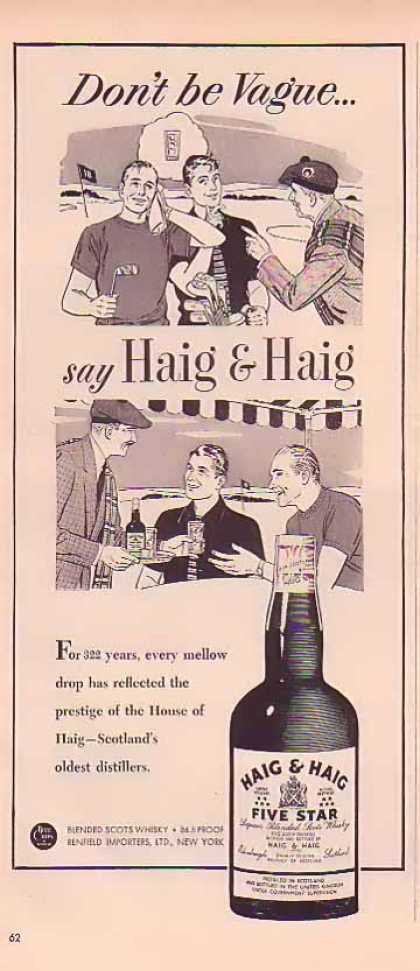 Haig & Haig Whiskey – On the golf course (1949)