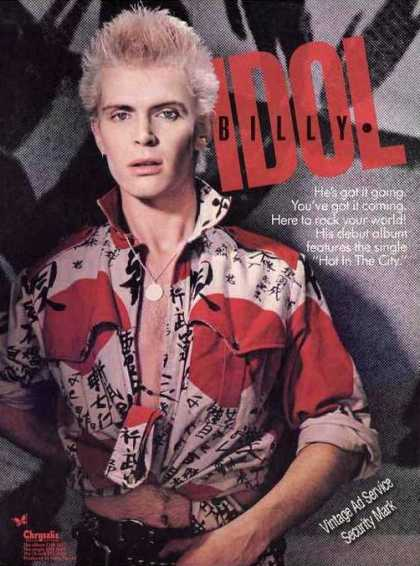 Billy Idol Photo Collectible Music (1982)