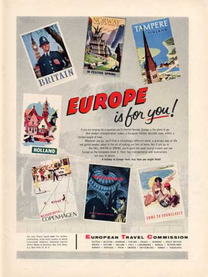 European Travel Posters Photo (1956)