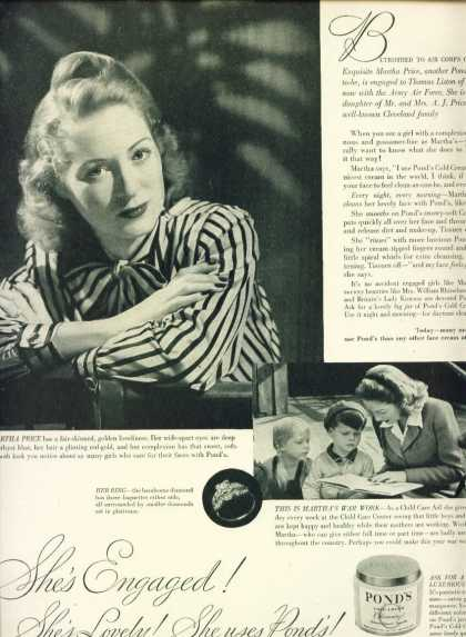 Pond's Cold Cream Martha Price at War Work C (1943)