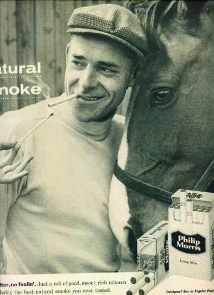 Philip Morris Long Size Cigarettes Man & Horse C (1960)