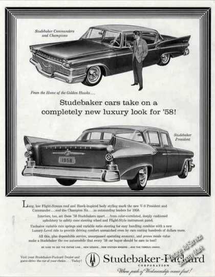 "Studebaker ""Completely New Luxury Look"" Car (1958)"