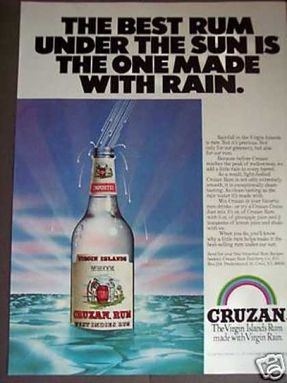 Cruzan Virgin Islands Rum Rainbow Art (1979)