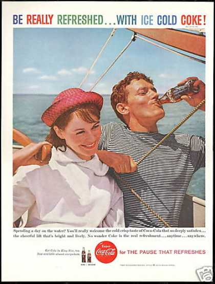 Coke Sailboat Sailing Photo Coca Cola Vintage (1959)