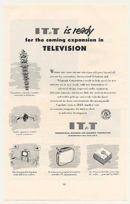 IT&T Ready for Coming Expansion in Television (1953)