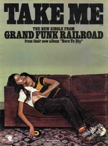 Grand Funk Railroad Take Me Record Promo (1976)