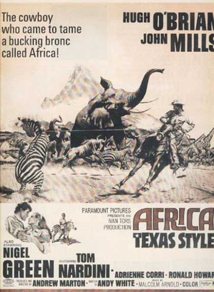 Africa-Texas Style (Hugh O'Brian and John Mills) (1967)