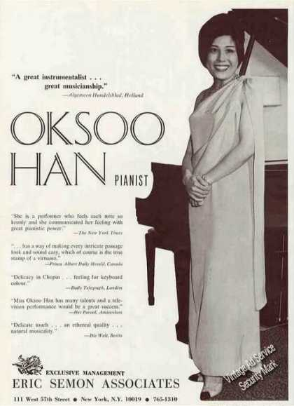 Oksoo Han Photo Pianist Booking (1967)