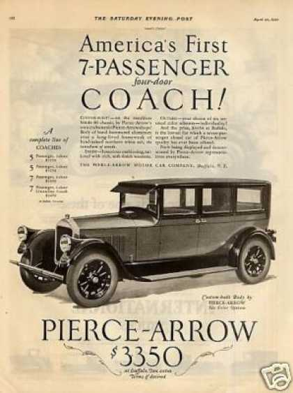 Pierce-arrow 7-passenger 4-door Coach (1926)