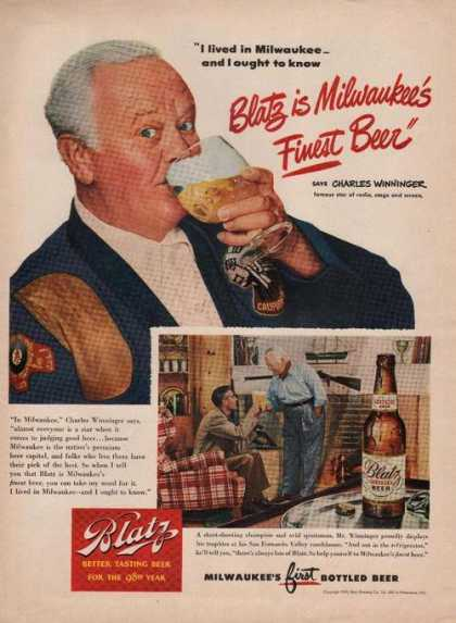Charles Winninger for Blatz Beer (1949)