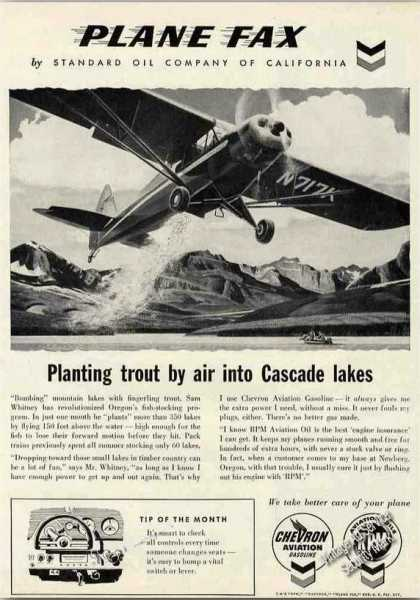 Planting Trout By Air Into Cascade Lakes (1957)