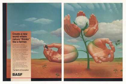 BASF Pix Plant Regulator Cotton Plant art 2-Pg (1987)