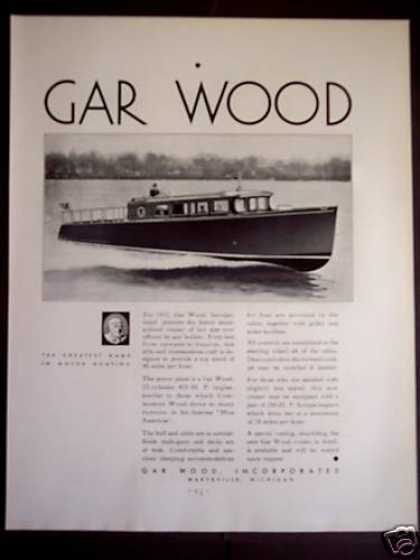 Gar Wood Inc Motor Boats (1931)