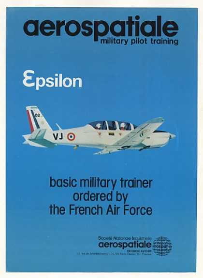 Aerospatiale Epsilon Military Trainer Aircraft (1982)