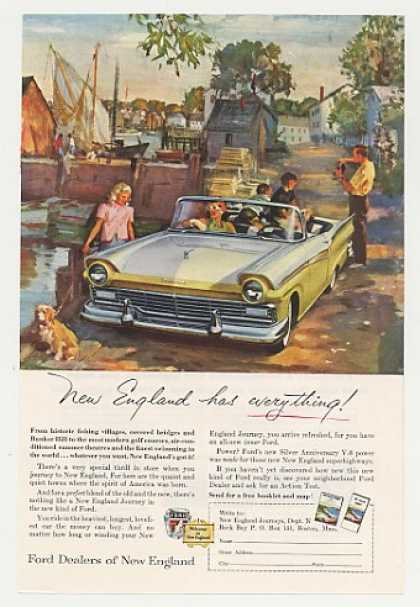 Ford Fairlane Convertible New England art (1957)