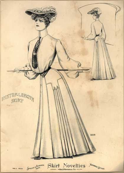 Jno. J. Mitchell Co.'s Instep-Length Skirt – Skirt Novelties (1904)