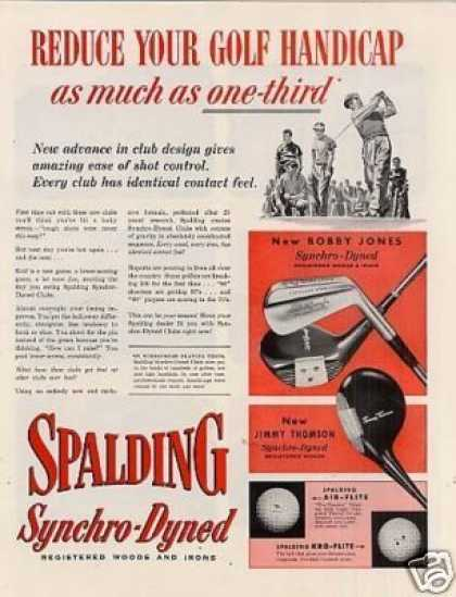Spalding Golf Clubs (1953)