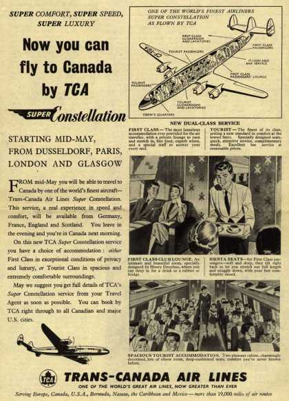 Trans-Canada Air Line's Super Constellation – Now you can fly to Canada by TCA (1954)