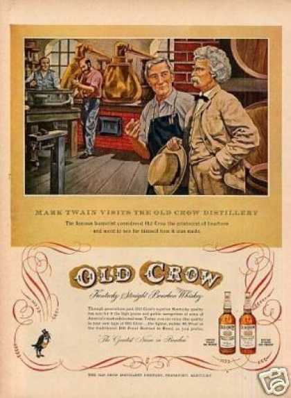 Old Crow Bourbon Whiskey (1953)