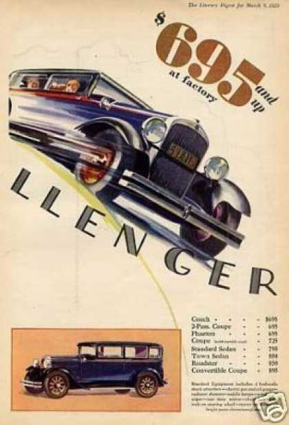 Essex Challenger Car Color Ad 2 Page (1929)