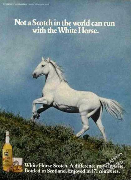 White Horse Scotch Beautiful Horse Photo (1978)