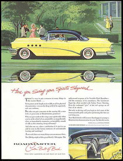 Buick Roadmaster Yellow Black 2 Dr Car (1955)