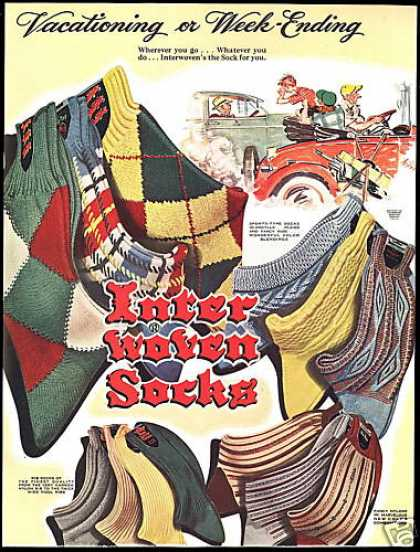 Interwoven Socks Car Travel Art Inter Woven (1950)