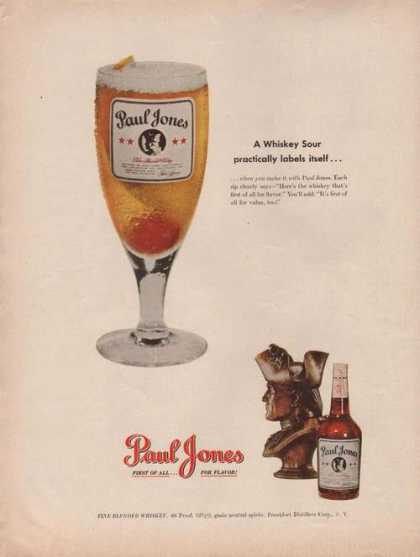 Paul Jones Whiskey Sour Drink (1949)