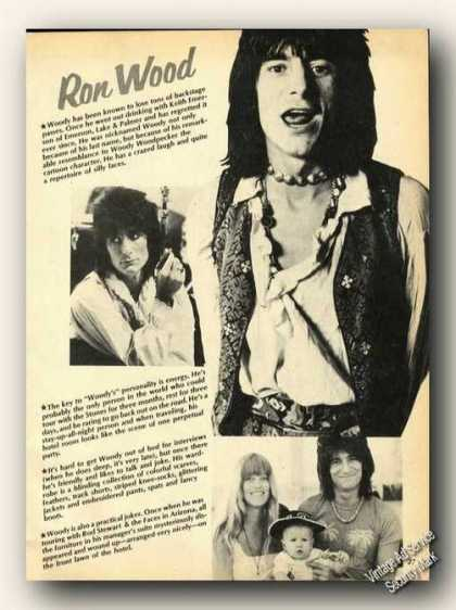 Ron Wood Photos Print Feature (1978)