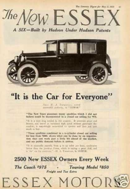 "Essex Car Ad ""It Is the Car... (1924)"