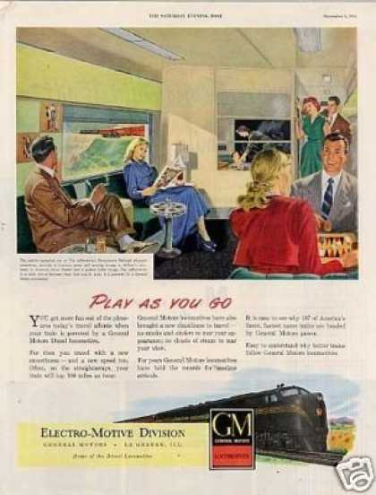Gm/emd Locomotive Ad Pennsylvania Railroad (1948)