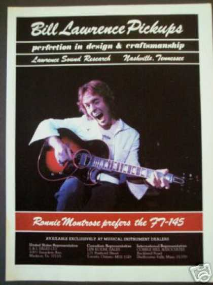 Ronnie Montrose Photo – Bill Lawrence Pickups (1977)