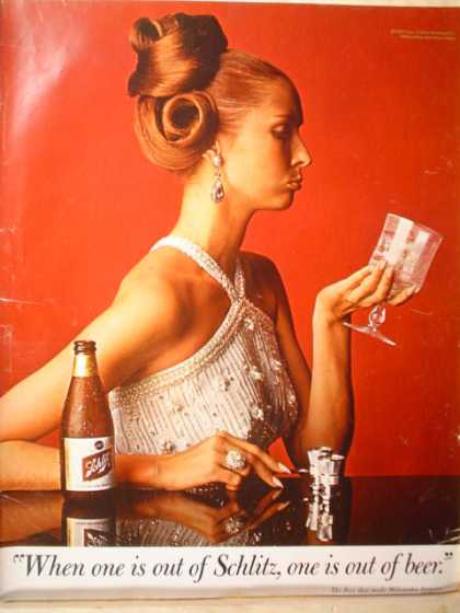 Schlitz Beer High Society Woman (1967)