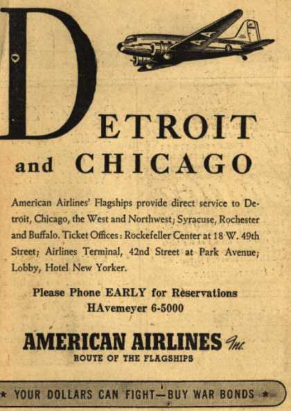 American Airline's Detroit and Chicago – Detroit and Chicago (1943)