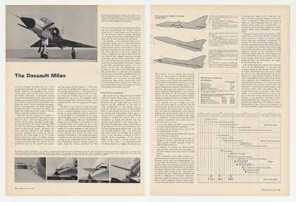 Dassault Milan Aircraft 3-Page Photo Article (1969)