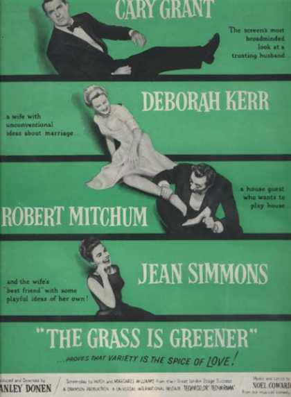 The Grass Is Greener (Cary Grant, Deborah Kerr, Robert Mitchum and Jean Simmons) (1960)