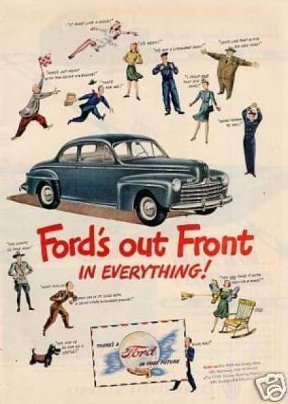 "Ford Car Ad ""Out Front In Everything... (1946)"