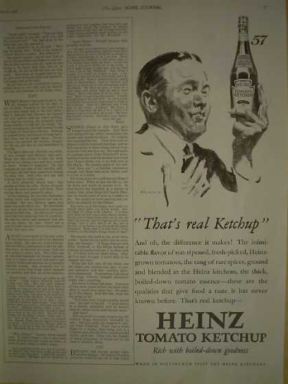 Heinz Ketchup 1/2 pg AND Lifebuoy Health Soap (1926)